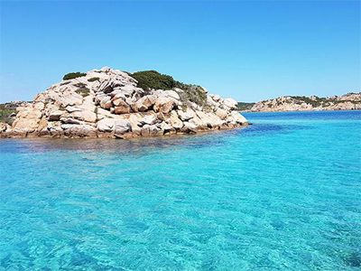 the island of budelli is a pearl of la Maddalena in sardinia